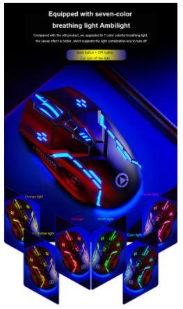 Мышь компьютерная G5 в 6D исполнении. 6 кнопок  4 скорости