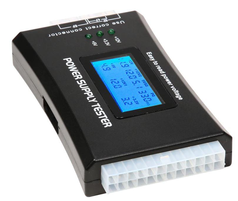 Тестер компьютерных блоков питания 20/24 pin SATA HDD ATX с дисплеем