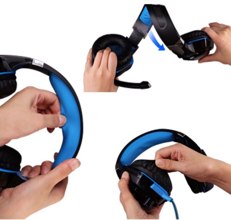 Игровая гарнитура и игровая мышь 4000 DPI, регулируемые стереонаушники для геймеров