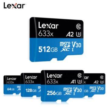 Карта памяти Micro SD Lexar 633X. Class 10 UHS-1 U1/U3