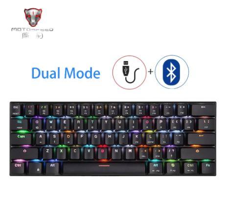 Механическая игровая клавиатура MOTOSPEED CK62 USB / Bluetooth с RGB led подсветкой