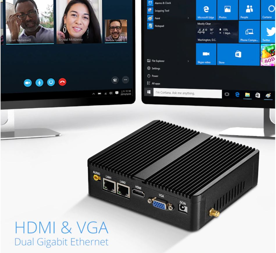 Мини ПК Intel. Домашний / офисный компьютер на Windows 10 с wifi