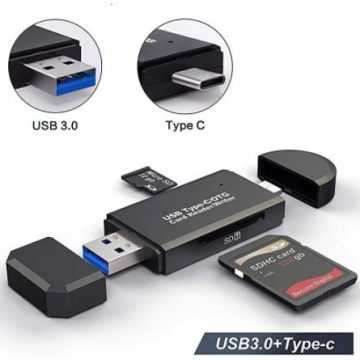 Кардридер USB OTG MicroUSB для ПК, смартфонов, планшетов