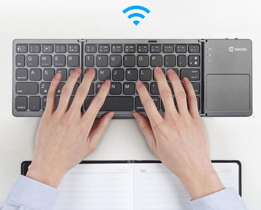 Портативная складная беспроводная  клавиатура Bluetooth для планшета IOS Android Windows ipad