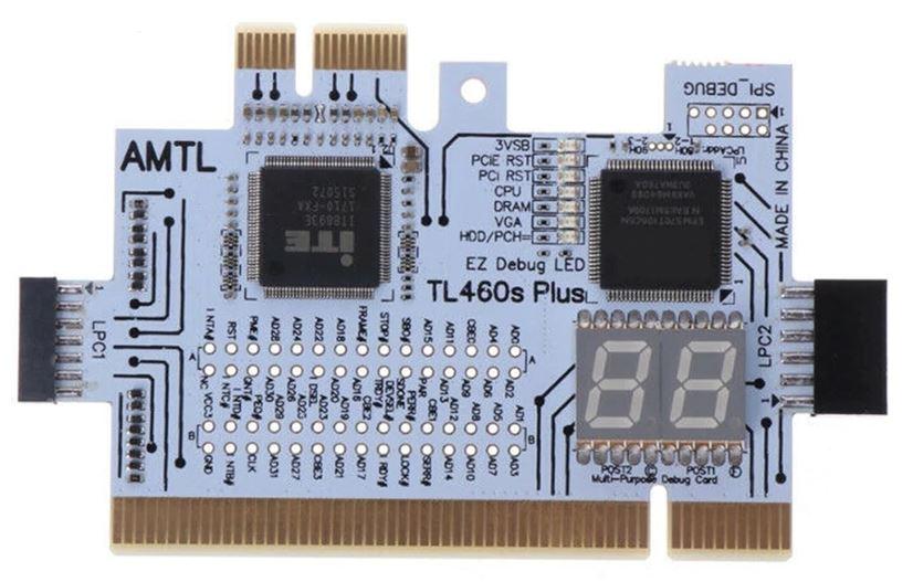 Пост карта DEBUG PCI PCI-E LPC. Для диагностика материнской платы ПК, ноутбука