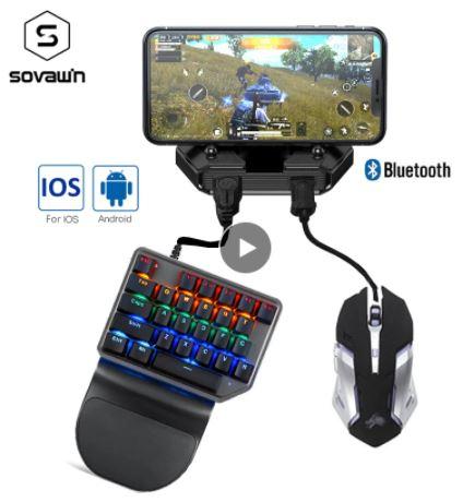Контроллер для мобильных телефонов для Android, IOS, iPad. Bluetooth 5.0, с клавиатурой и мышью