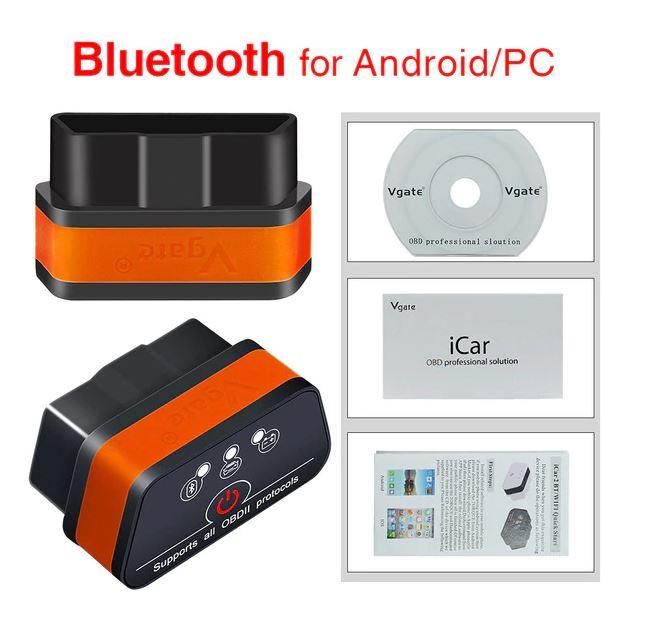 Диагностический сканер OBD ELM327 Vgate iCar2 Bluetooth / Wi-Fi Диагностика автомобиля