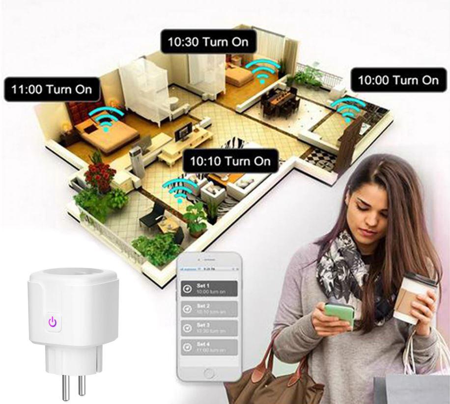 Умная розетка с Wi-Fi 16 А беспроводное управление