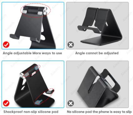 Универсальная настольная подставка (держатель) телефона, планшета.