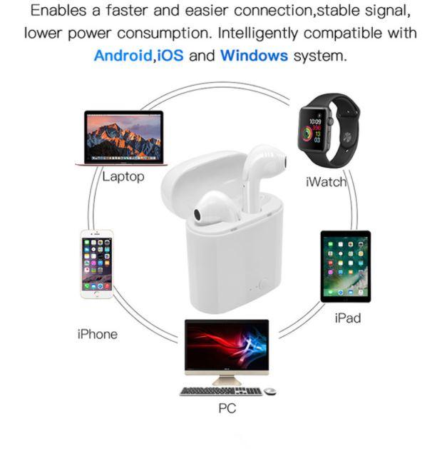 Беспроводные наушники Bluetooth I7s tws (гарнитура с микрофоном) для смартфона