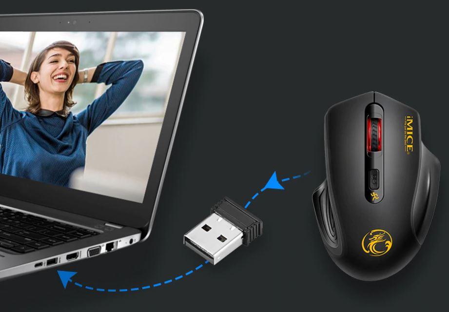 Беспроводная мышь Wi-Fi 2,4 ГГц для компьютера, ноутбука. Для игр, 2000 DPI