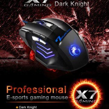 Мышь компьютерная. Игровая мышь. Геймерская мышь 5500 DPI, проводная X7 USB