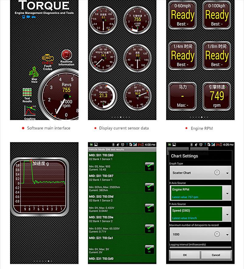 Автомобильный сканер ELM327 OBD2 V1.5 PIC18F25K80 Bluetooth для диагностики авто