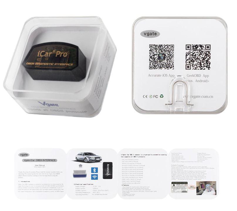 Автомобильный диагностический сканер Vgate iCar Pro ELM327 OBD2 Bluetooth / WI-FI V2.2 оригинал для Android / IOS