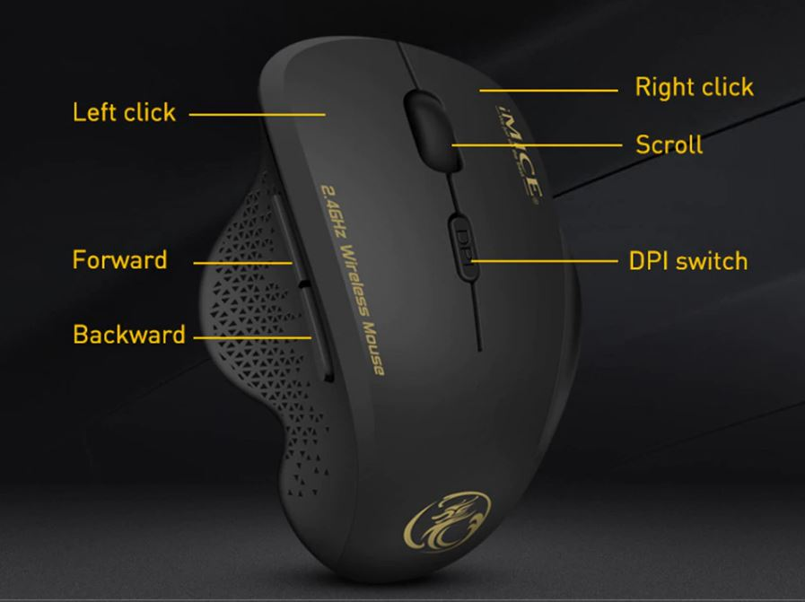 Мышь компьютерная игровая беспроводная 2.4 ГГц 1600 DPI куплю