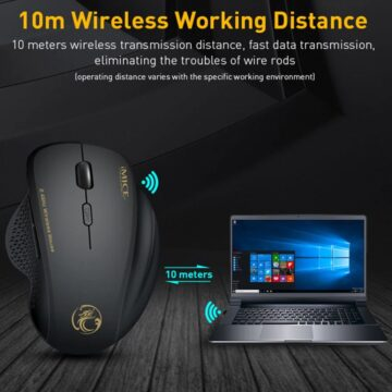 Мышь компьютерная игровая беспроводная 2.4 ГГц 1600 DPI цена купить