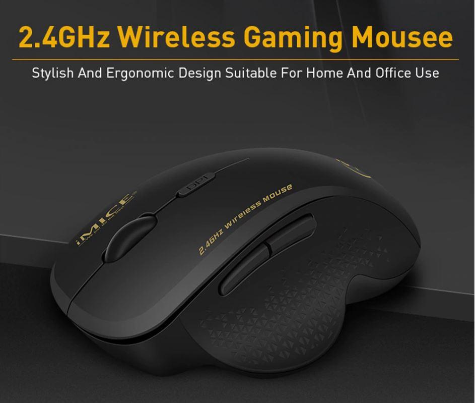 Мышь компьютерная игровая беспроводная 2.4 ГГц 1600 DPI