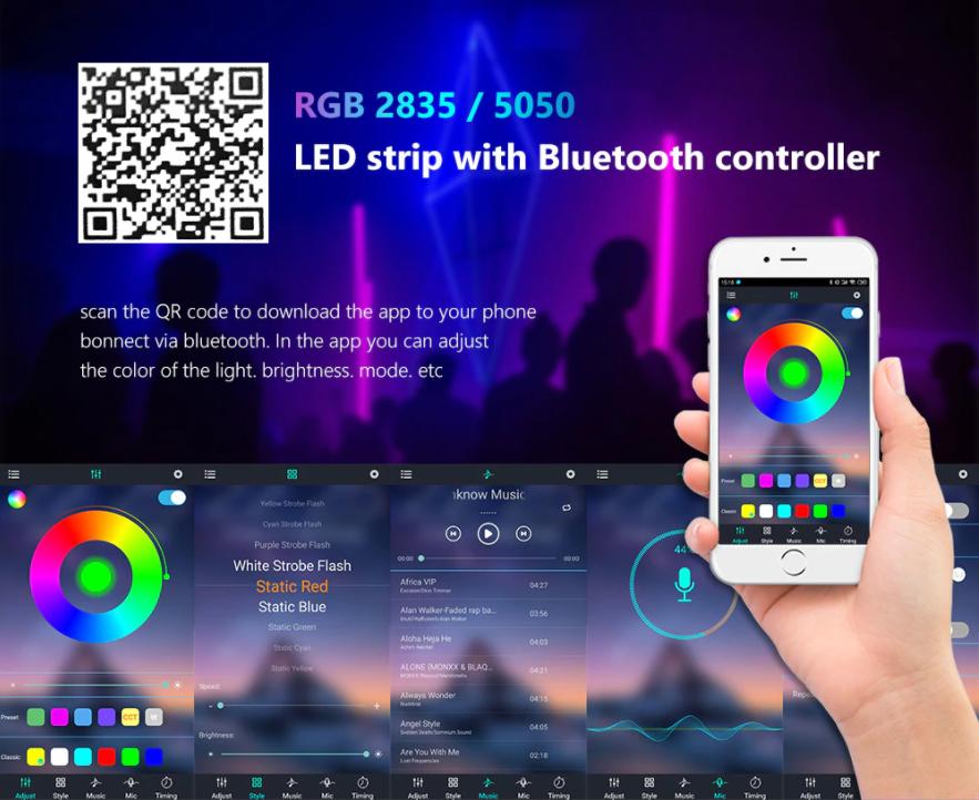Светодиодная лента RGB (подсветка ) с алиэкспресс цена