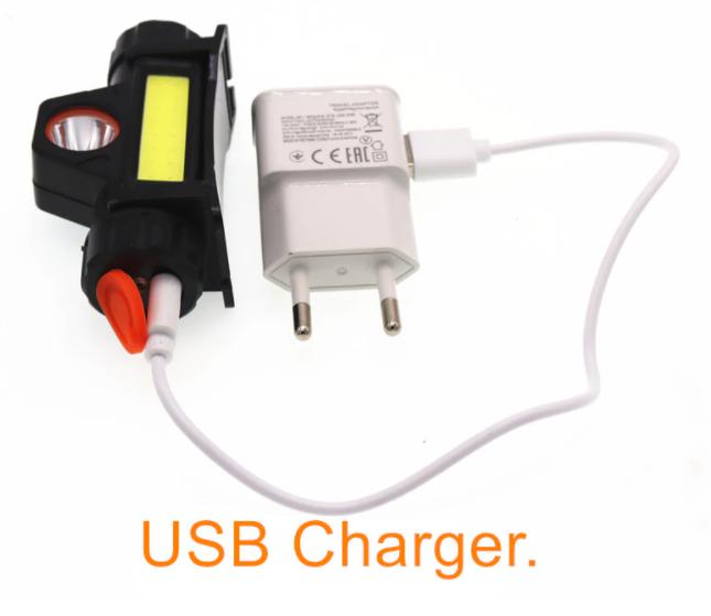 налобный фонарик с аккумулятором, зарядка от usb
